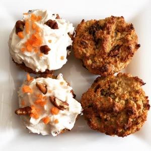 Vegan Carrot Oat Cupcakes